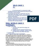 Real World Case 1 Summar1