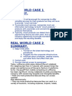 Real World Case 1 Summar1