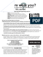 ICE UFT Election Flyer