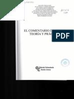 Indice y Presentación - Libro Comentario de Texto