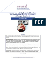 Palatal and Labially Impacted Maxillary Canine-Associated Dental Anomalies a Comparative Study