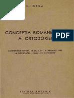 Concepţia Românească a Ortodoxiei - Nicolae Iorga