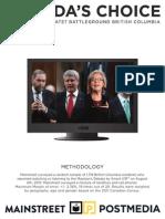 Mainstreet - Federal Debate - BC Only