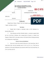 Martin v. Apple Inc. - Document No. 1