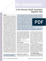 Posizion of the American Dietetic Associetion - Vegetarian Diets