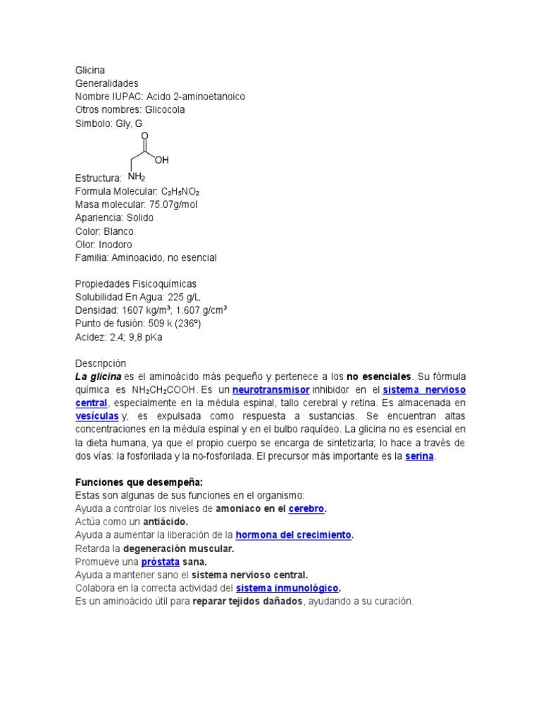 Glicina Glicina Produtos Quimicos