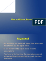 How to Write an Argument