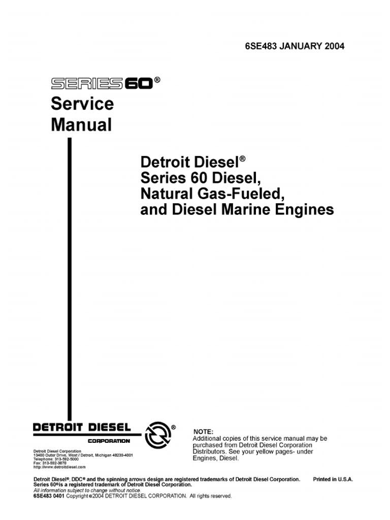 series 60 service manual internal combustion engine diesel engine rh scribd com Detroit Diesel Series 60 Detroit Diesel 92 Series