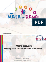 2013 into numeracy conference maths recovery presentation