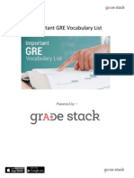 Important GRE Vocabulary Guide