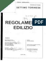 settimo regolamento edilizio