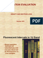Petrophysics of Neutron Density analysis