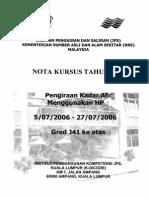 NOTA KURSUS TAHUN 2006 - Pengiraan Kadar Alir Menggunakan HP - 05-07-2006 to 27-07-2006