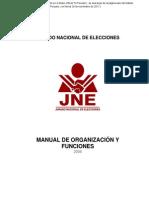 ManMANUAL DE ORGANIZACIÓN Y FUNCIONESual de Organización y Funciones - R-038-2008-Dcgi-jne