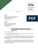Verizon Response to FCC Regarding ETF