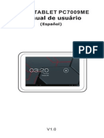Spanish Manual for Tablet Titan 7009me