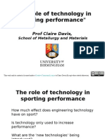 The role of technology in sporting performance