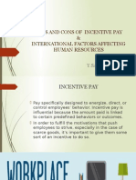 Pros and Cons of Incentive Pay