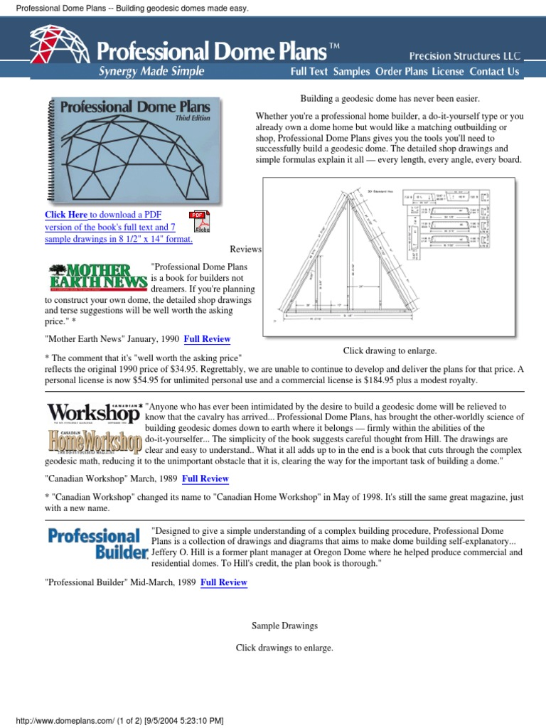 Domeconstructionplans2004pdf fandeluxe Images