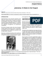 Evolution of Cholecystectomy a Tribute to Carl August Langenbuch