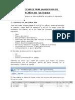 Instrucciones Para La Revision de Planos