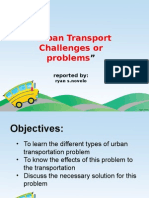 Urban Transportation Problem Novelo
