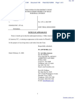 PA Advisors, LLC v. Google Inc. et al - Document No. 109