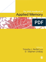 Sage Handbook of Applied Memory