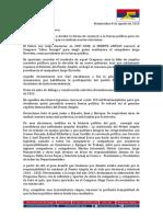 Carta de renuncia de Mónica Xavier