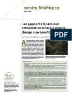 Can Payments for Avoided Deforestation to Tackle Climate Change Also Benefit the Poor