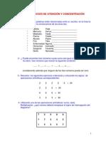Ejercicios de Atencic3b3n y Concentracic3b3n i
