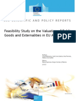 Feasibility Study on the Valuation of Public Goods and Externalities in EU Agriculture