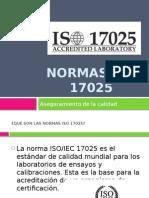 Aseguramiento Iso 17025