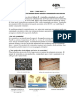 Hoja informativa sobre la vermiculita