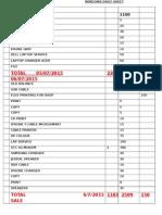 Windows Daily Sheet