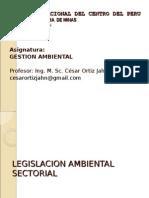 AUDITORIA  AMBIENTAL - UNCP MINAS 2010- 4° PARTE - LEGISLACION AMBIENTAL SECTORIAL