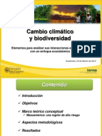 2012 Presentacion CC-y-BD Cambi Climatico