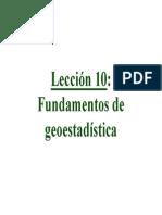 10 - Fundamentos de Geoestadistica