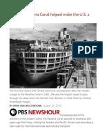 How the Panama Canal Helped Make the U.S. a World Power