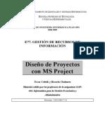 Gestion de Recursos Diseño de Proyectos Con Ms Project