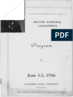 Program Of The Second National Convention of the Labour Progressive Party of Canada, July 1st-5th 1946
