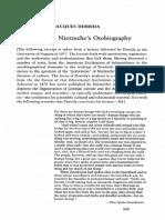 Derrida, J - All Ears, Nietzsches Otobiography, (1982) 63 YFS 245