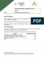 Diplomado Seguridad en Redes y Norma Iso27001