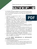 acuerdos de La Asamblea Nacional Del 13 y 14 de Diciembre Del 2014