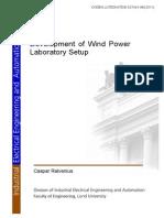 Development of Wind Power Laboratory Setup