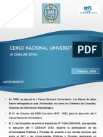 II Censo Nacional Universitario-2010
