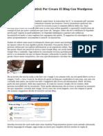 I Dieci Passi (Definitivi) Per Creare El Blog Con Wordpress