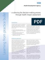 Influencing the Decision Making Process Through HIA - HDA England - 2003