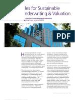 Sustainability—Property Underwriting & Valuation