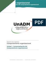 Unidad 1. Comportamiento Organizacional_Contenido Nuclear